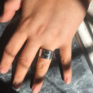 Silver Michael kors ring